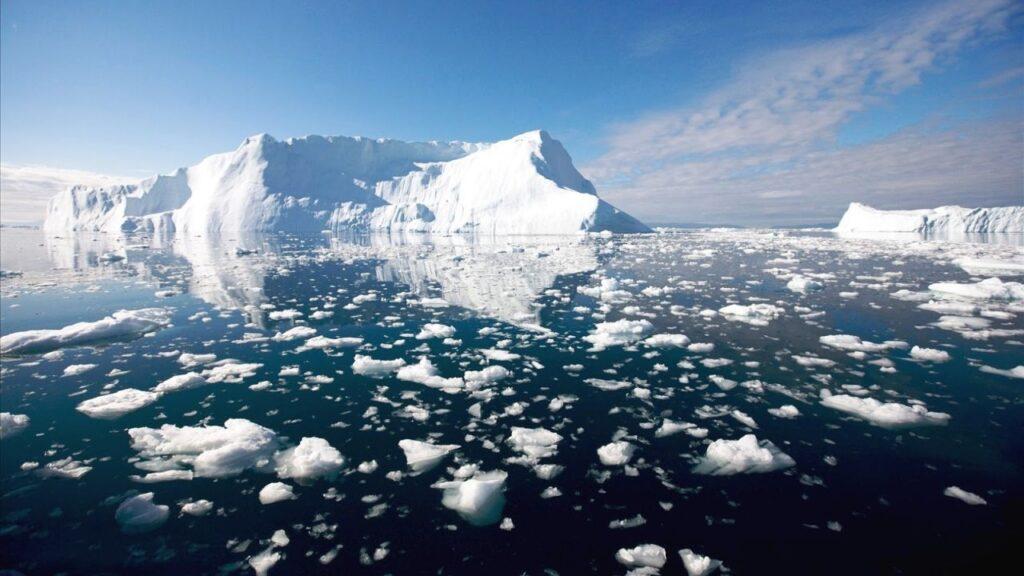 Glaciar derritiendose